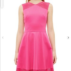 Ted Baker Eleese Mesh Detail Skater Dress